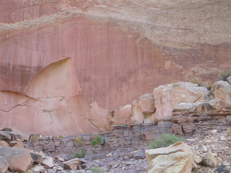 Petroglyphs at Capitol Reef