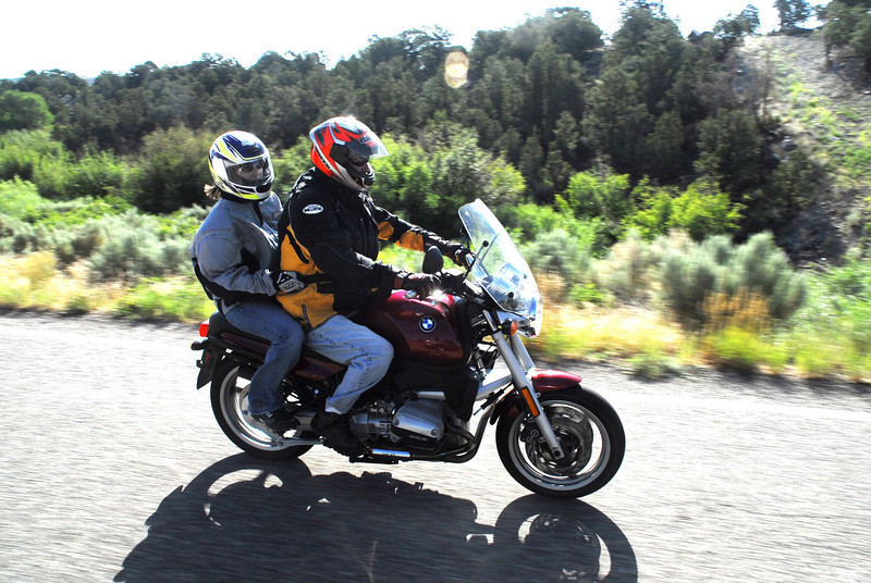 Shannon & Mark on the R1100