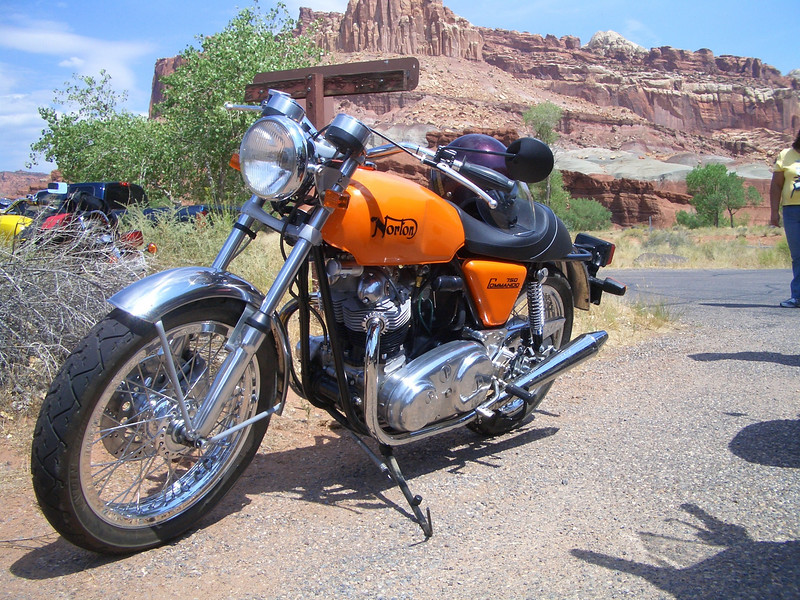 Norton 750 Commando Roadster at Capital Reef