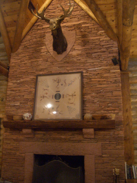 Fireplace at Red River Ranch