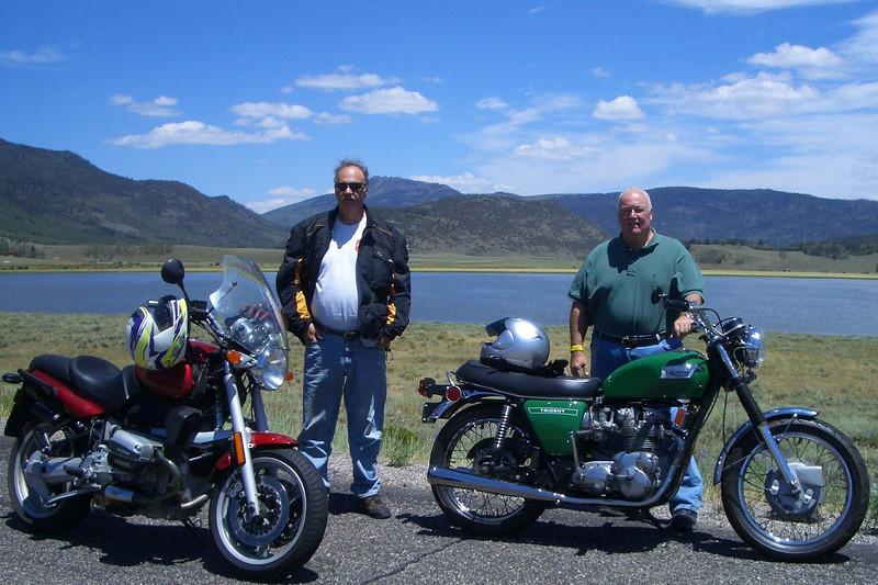 Mark & Bill at Fish Lake. Elevation 9,000 ft.