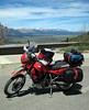Here's the bike fully loaded at the Sawtooth Basin overlook.