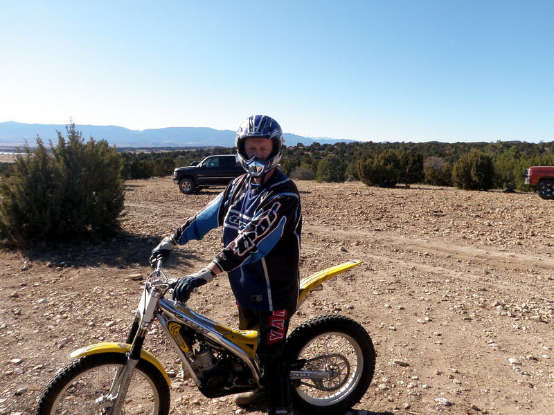 Will ready to roll - Sangre de Cristo mountains in the background