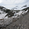 Sneffels Falls isn't easy to see (mid frame) but its raging.  Beyond is Yankee Boy Basin.