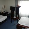 Hotel Bremer Tor in Stuhr bij Bremen.<br /> Guido zijn kamer.