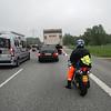 In de file ter hoogte van Hamburg op de A1.<br /> Eric.