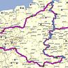 De GPS route<br /> <br /> Dag 1 Vrijdag 17-05-2013: <br /> Van thuis naar Bremen RingHotel Bremer Tor 432 Km<br /> <br /> Dag 2 Zaterdag 18-05-2013: <br /> Van Bremen naar Dömitz 375 Km<br /> <br /> Dag 3 Zondag 19-05-2013: <br /> Van Dömitz naar Helmstedt 204 Km<br /> <br /> Dag 4 Maandag 20-05-2013: <br /> Van Helmstedt naar Berlijn en terug naar Helmstedt 417 Km + 66 Km (Concentratiekamp) = 483 Km<br /> <br /> Dag 5 Dinsdag 21-05-2013: <br /> Van Helmstedt naar Wernigerode 105 Km + namiddag bezoek Brocken<br /> <br /> Dag 6 Woensdag 22-05-2013: <br /> Van Wernigerode naar Eisenach 251 Km<br /> <br /> Dag 7 Donderdag 23-05-2013: <br /> Van Eisenach naar Neukenroth/Stockheim 227 Km<br /> <br /> Dag 8 Vrijdag 24-05-2013: <br /> Van Neukenroth/Stockheim naar Würtzburg 303 Km<br /> <br /> Dag 9 Zaterdag 25-05-2013: <br /> Van Würtzburg naar huis 495 Km<br /> <br /> <br /> Totaal +/- 2875 Km op 9 dagen