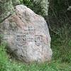 Gedenksteen Priwall, meest Noordelijke grensovergang