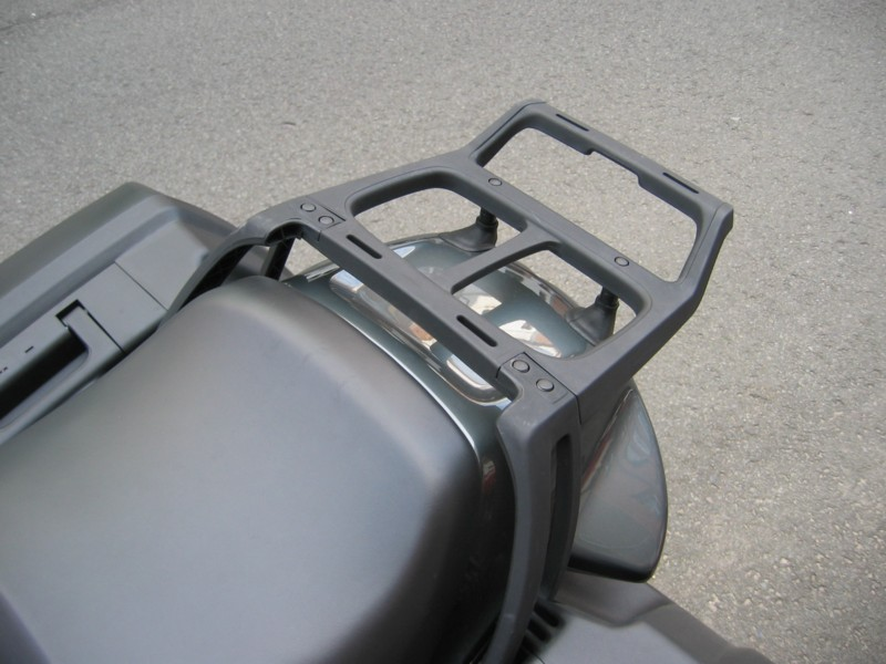 The original BMW mount for a BMW topcase. A BMW case is quite expensive and mostly smaller than the GIVI alternatives.