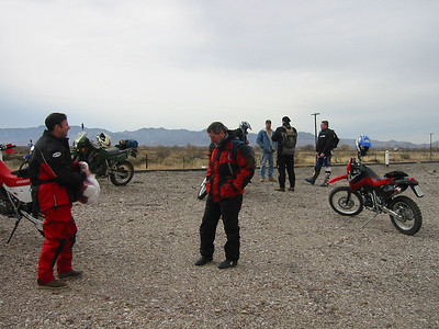 Our group consisted of two policemen from Palm Springs, CA, a retired fighter pilot from VA, and Clement Salvadori.It was cold the morning we left Douglas. Really cold.