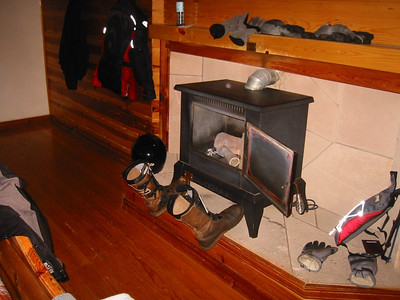 The gas stove was instrumental in drying our stuff.