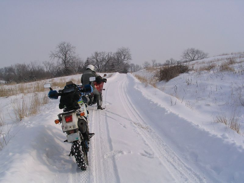 off on a little ride around Jackson County, Iowa.  February