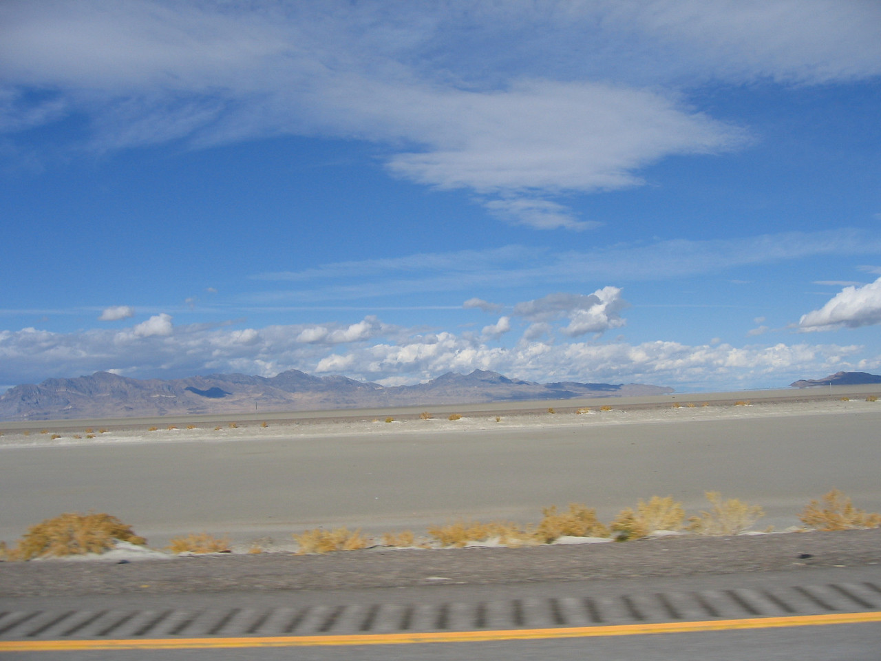 The mountains north of the salt flats.
