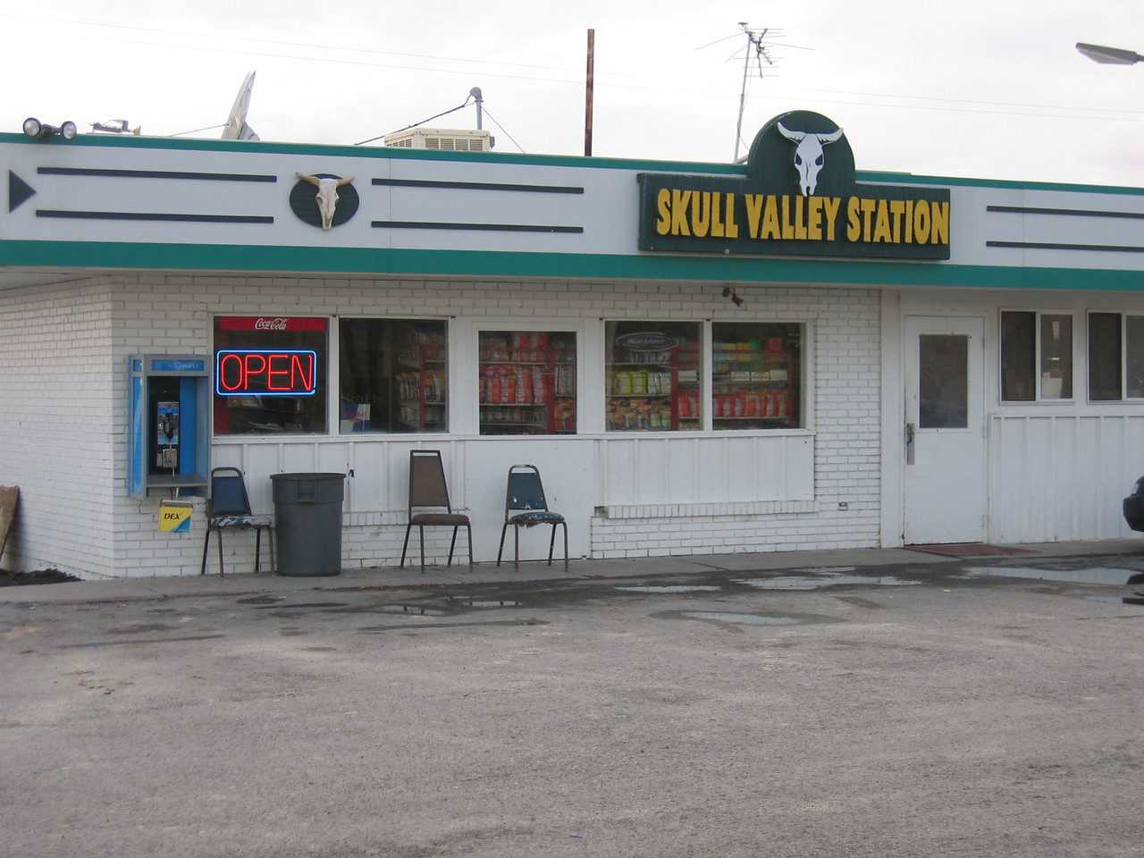 "As I cross the salt flats and the Great Salt Lake, I realize that I won't have enough fuel to make Salt Lake City.  In Utah, you can go over 100 miles between fuel stations, so I take the opportunity to get gas at a Sinclair station.  ""Skull Valley Station"" has a nice ring to it!"