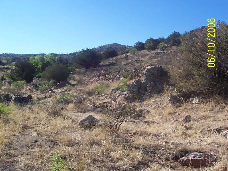 It was a short walk to this area with old rock corral ruins.