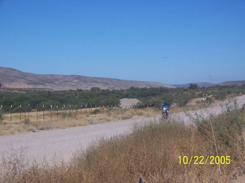 Here is Kieth arriving at Cascabel Rd.