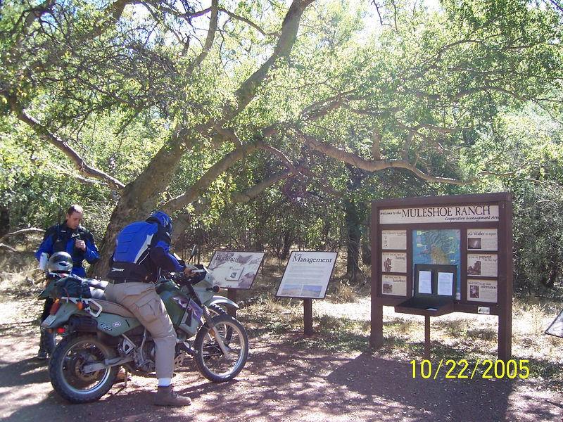 We finally arrived at Muleshoe Ranch behind schedule. Here are Kieth and Craig at the sign-in kiosk. Craig had to be home by 4:30 so we didn't have much time to look around.  There is supposed to be a hot springs in this area but we skipped it.