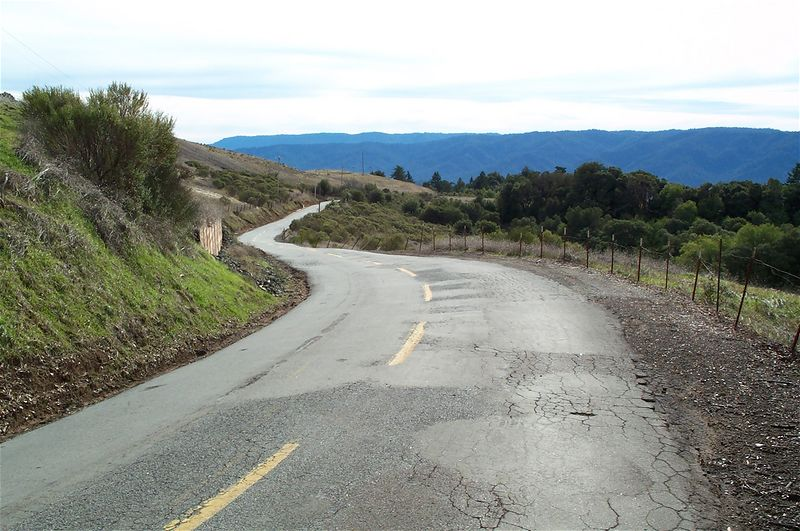 Alpine road.  Tons of fun, rougher but less traffic.  More my speed.