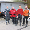 Sean, Kevin, Fearless Leader and Conrad (Im holding the camera) ready to roll out of North Conway NH.