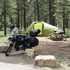 Ten-X campsite in the Ponderosa Forest 10km from the rim of the Grand Canyon