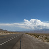 The highway through the desert from Lee Vining California to Las Vegas Nevada