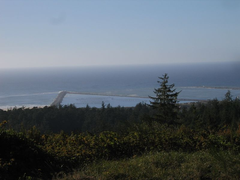 It was hard riding from Hood River to the coast with no stops for pictures. This is the entrance to Coos Bay.