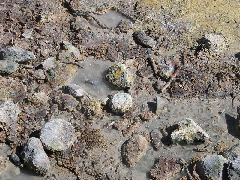 Boiling mud.