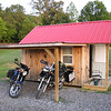 Stopped for the night at Hunts Lodge Motorcycle Camp.