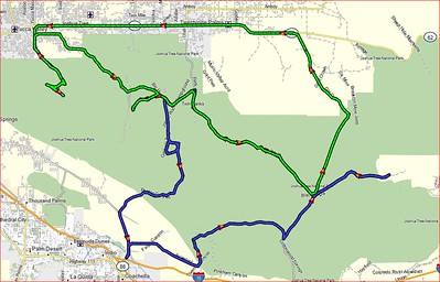 Joshua Tree DR650 tracks - two days - 286 miles