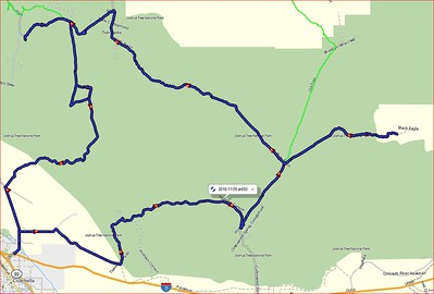Joshua Tree DR650 tracks - Day 1