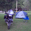 Camp made at Blue Ridge