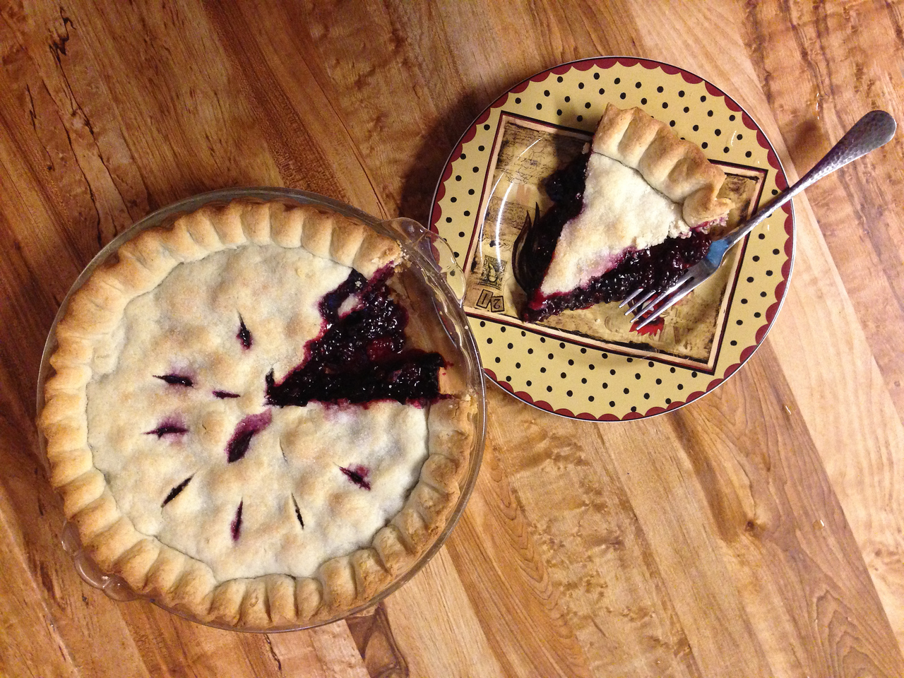 And we capped off the weekend with the first blackberry pie of the season.