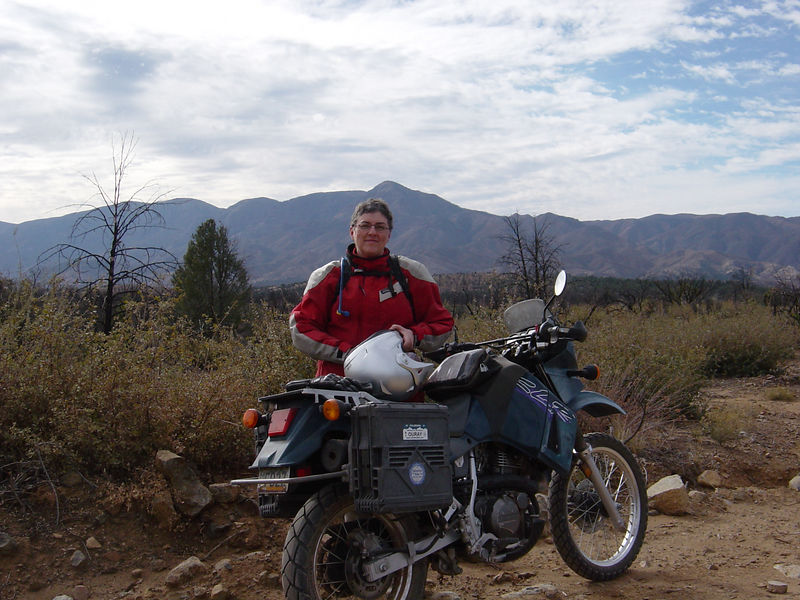 December 11, 2005 ride on forest service roads just west of Rye, Arizona. That's North Peak behind my head--part of the Mazatzal Mountains.