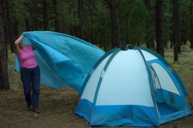 Creative tent fun.