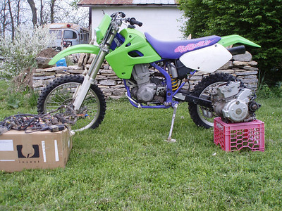 KLX and DRZ + man cave and get the guzzi trip
