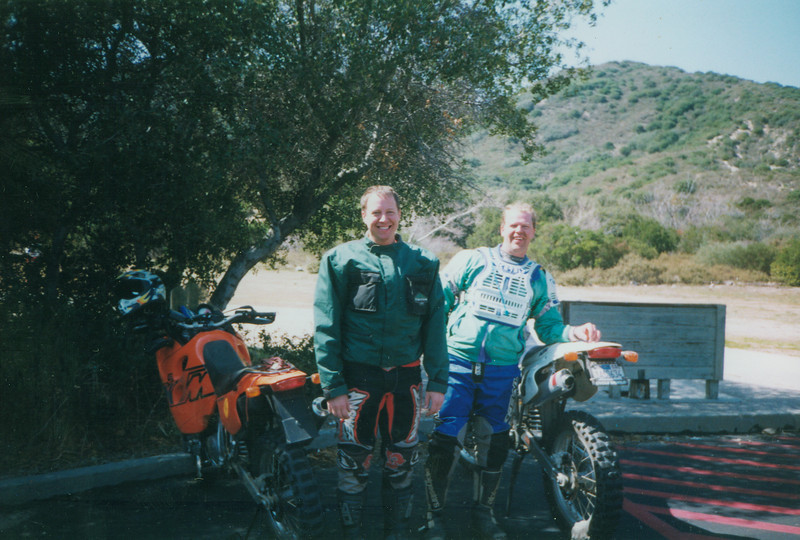 Paul and I at the lunch stop of the 1999 PBTF Ride for Kids in San Bernadino, CA.