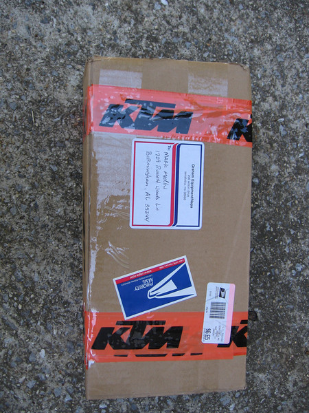 Donnie Graham of Graham KTM sent me a package...