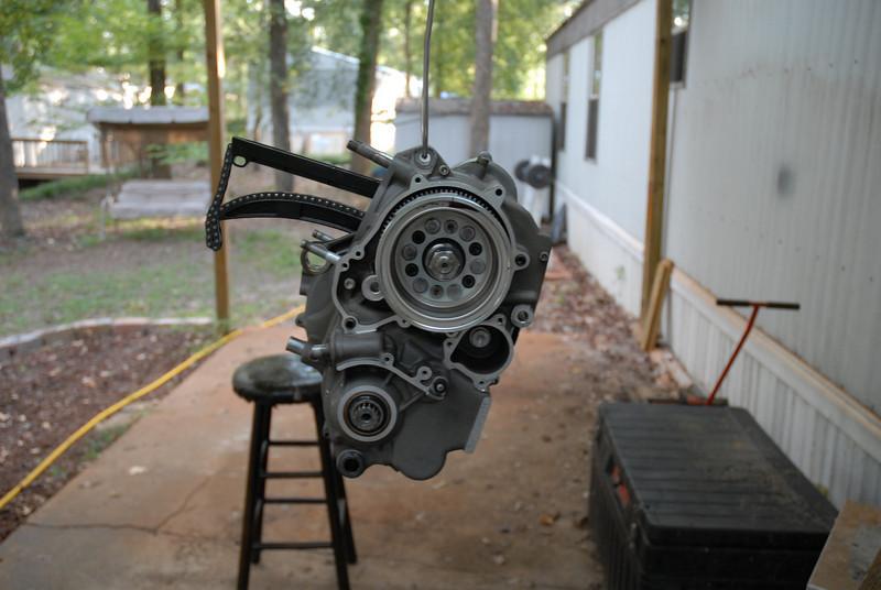 Clean engine case