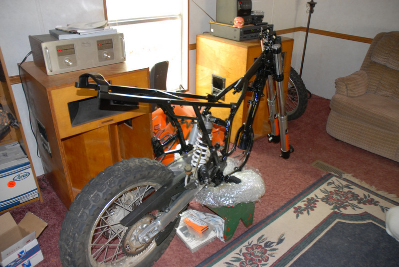 2003 rear subframe and swingarm retro fitted to a 1997 mainframe
