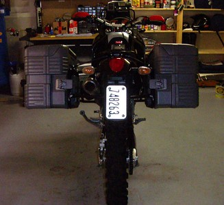 Just got the Gobi panniers and rack mount. Wow! 40 inches across!
