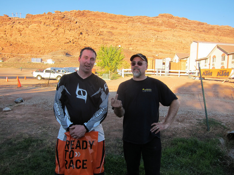 Crankshaft/Aaron and me  at KTM Rally Moab (before I crashed)
