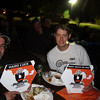"""My """"award""""  at the KTM dinner, for most hard luck. I had to get up on stage!  Craig/cjracer  got two awards, for most miles on a LC8  and Technical award for installing a Christini kit."""