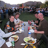 L->R: Craig Johnson/cjracer, Jason Black - editor Out Rider magazine and one of his writer guys, Tim/qwik  and Edward Walker/geek  at KTM awards steak dinner. I was having a steak dinner with this group of rowdies while propped up on Percocet for the broken ribs...