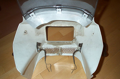 Dashboard mounted on fairing