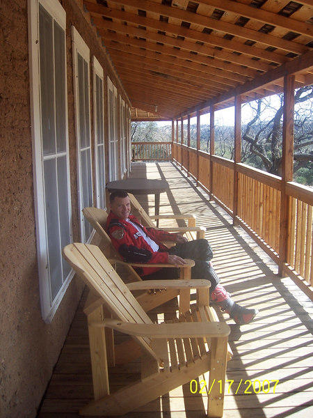 We walked through the visitor center and then relaxed on the patio a bit.