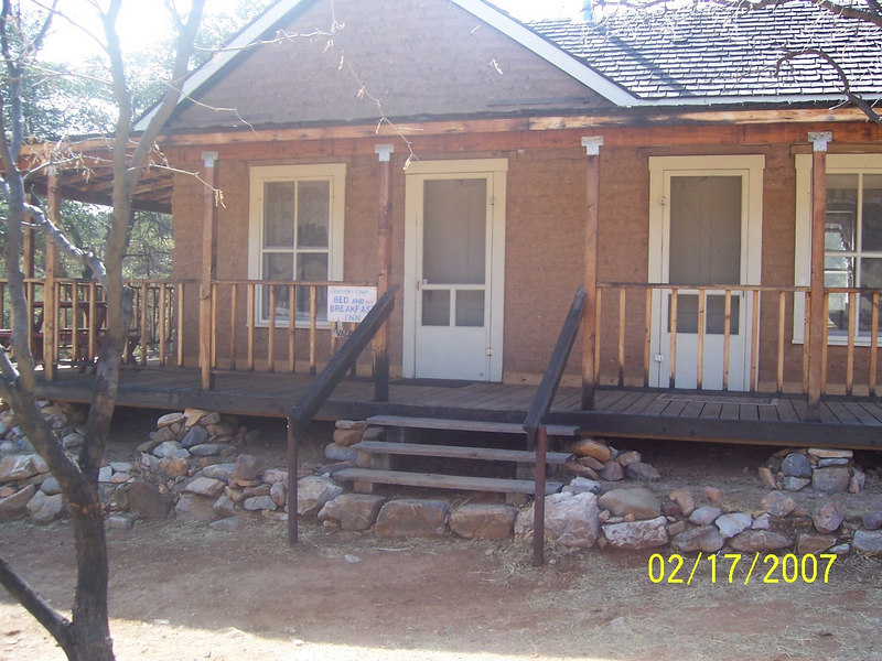 Here is the restored cabin you can rent for weekend camping outings.