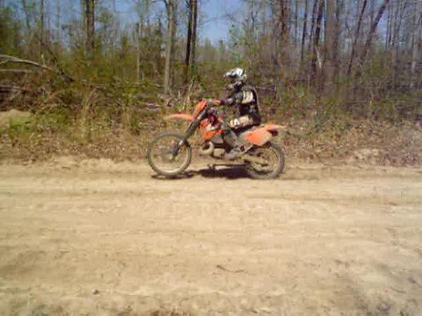 Mark on the KTM 300mxc