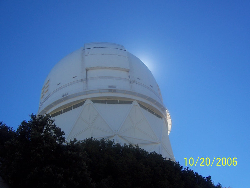 I had always wanted to visit Kitt Peak, but had never done it. I looked on Google Earth and saw there was a dirt road going up to it as well as a paved road. I thought it would be fun to ride the dirt road up on my KLR 650. This is the 4 meter reflector telescope.