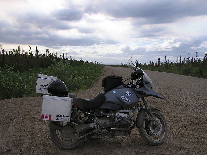 Storm brewing, between th Peel and Mackenzie Rivers on the Dempster Highway.
