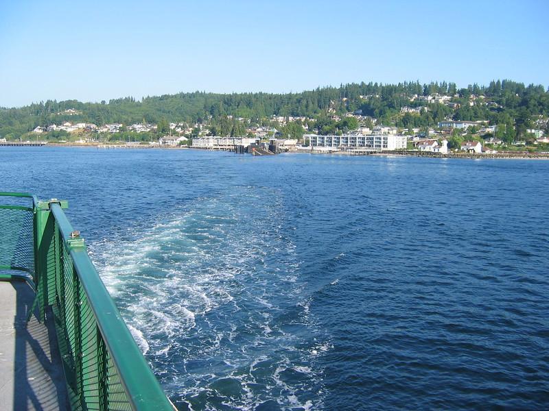 Ferry crossing from Mukilteo, WA to Whidbey Island, WA.